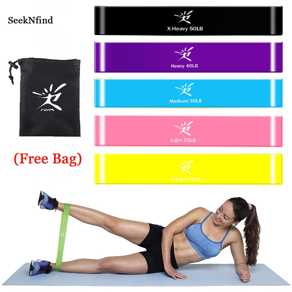 5PCs/Set Resistance Bands Latex Elastic Band Strength Training Rubber Loops Bands Gum for