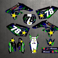 Motorcycle Customizable Number Sticker For Suzuki RMZ250 RMZ 250 2007 2009 2008 07 09 Personality Decal Graphic Background
