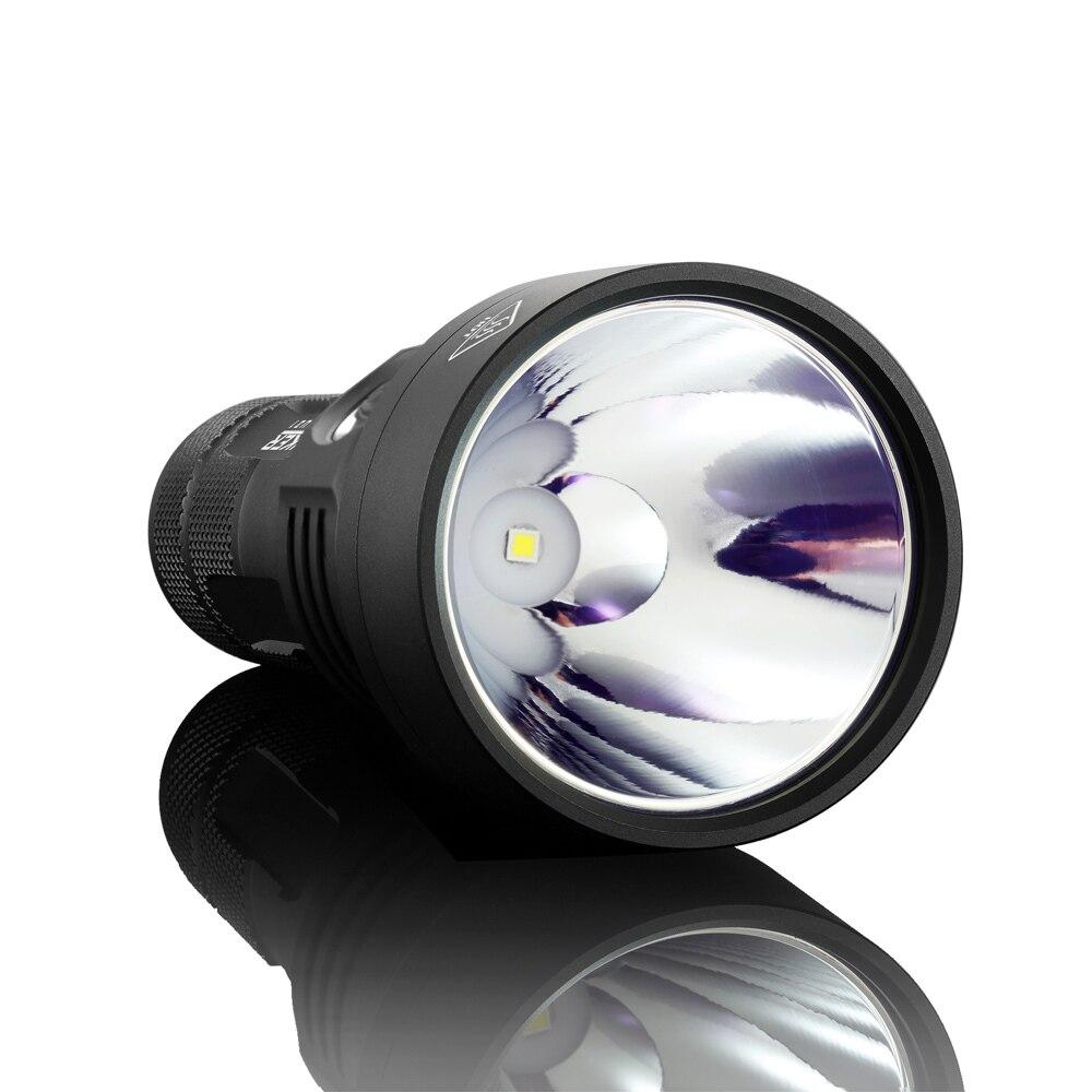 Image 3 - Manker U21 26650 Flashlight 1560 Lumen Cree XPH35 HI LED Flashlight 700Meters Thrower Torch + 5000mAh 26650 Rechargeable Battery-in LED Flashlights from Lights & Lighting