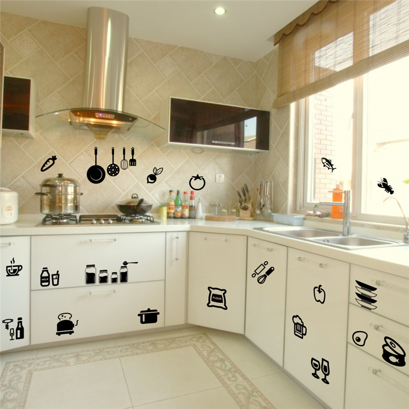Kitchen Tools Wall Sticker Home Removable Decal Wall Stickers Vinyl Kitchen Quote Art Decor ...