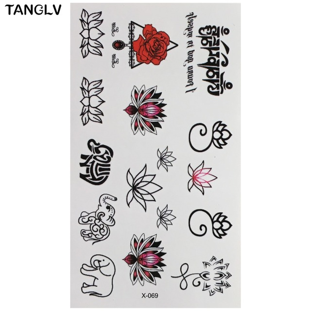 5pcs Lot Hot Flower Temporary Tattoos Single Waterproof Fake S Body Art Stickers 20 Styles In From