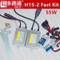 Fast Bright Hid Kit H15 5000K Xenon HID H15L 4300K 8000K 6000K H15 2 HID AC