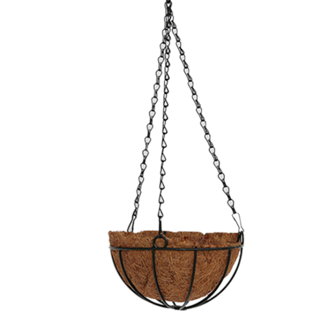 Us 8 81 32 Off 25cm 30cm Hanging Basket Decorations Iron Wire Coconut Fiber Hanging Planter Flower Basket With Chain Wall Hanging Home Decor In Wind