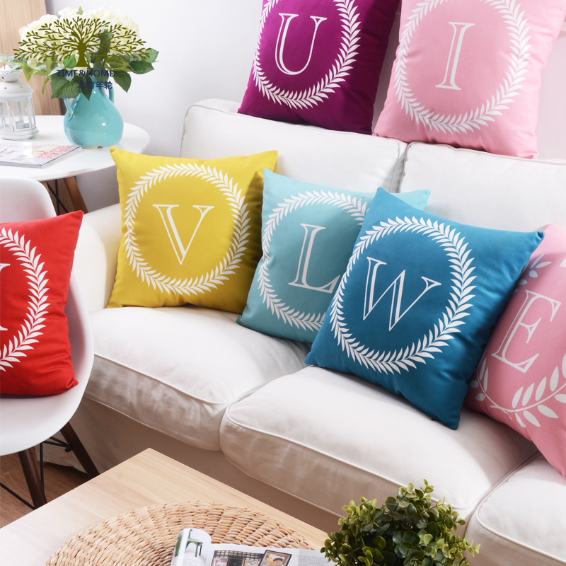 26 letters alphabet pillow stylish simple decorative throw pillows creative cozy home pillow decoration wholesale