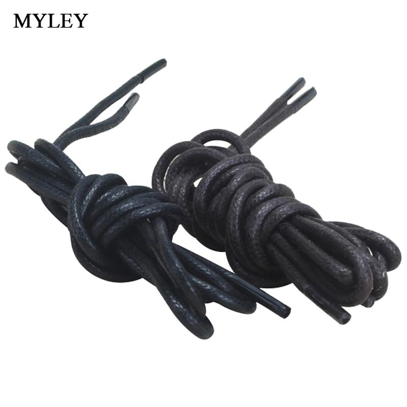 MYLEY 1 Pair Round Waxed Shoelaces Waterproof Cotton Shoe Laces Sport Shoes Bootlace Board Shoes Casual Shoes Shoelaces 90cm
