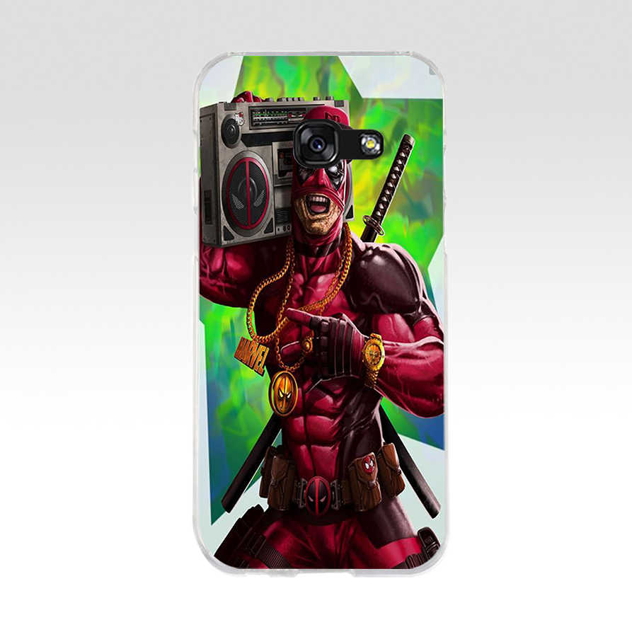 89WE بارد الأعجوبة بطل Deadpool لينة سيليكون غطاء من البولي يوريثان الحراري الهاتف حقيبة لهاتف سامسونج A3 A5 2016 A3 A5 2017 A7 A8 2018 A50