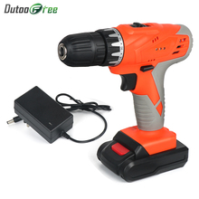 36vf 21v Cordless Electric Drill Screwdriver   Power Tools Lithium Battery Cordless Drill Rechargeable Household Torque 2-Speed electric drill screwdriver redverg rd sd330 330 w power torque 15нм 2 speed