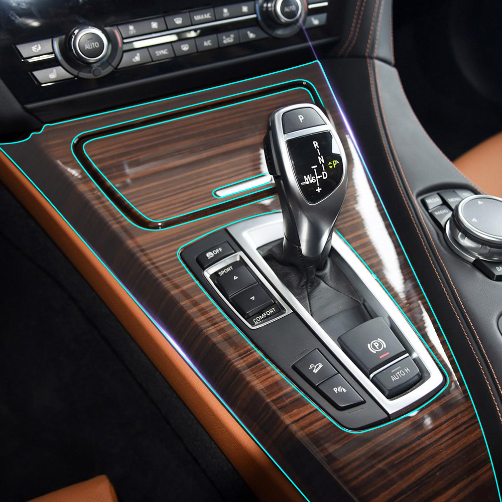 Anti scratch clear car interior central control gear panel - Automotive interior protective film ...