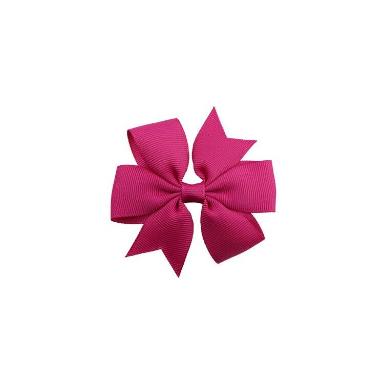 40 цветов сплошная корсажная лента банты заколки шпилька девушка бант для волос, бутик заколки для волос аксессуары для волос - Color: a32 Deep Rose