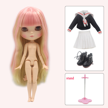 ICY Neo Blythe Doll Full Combo Box Pink Hair Azone Body 28cm