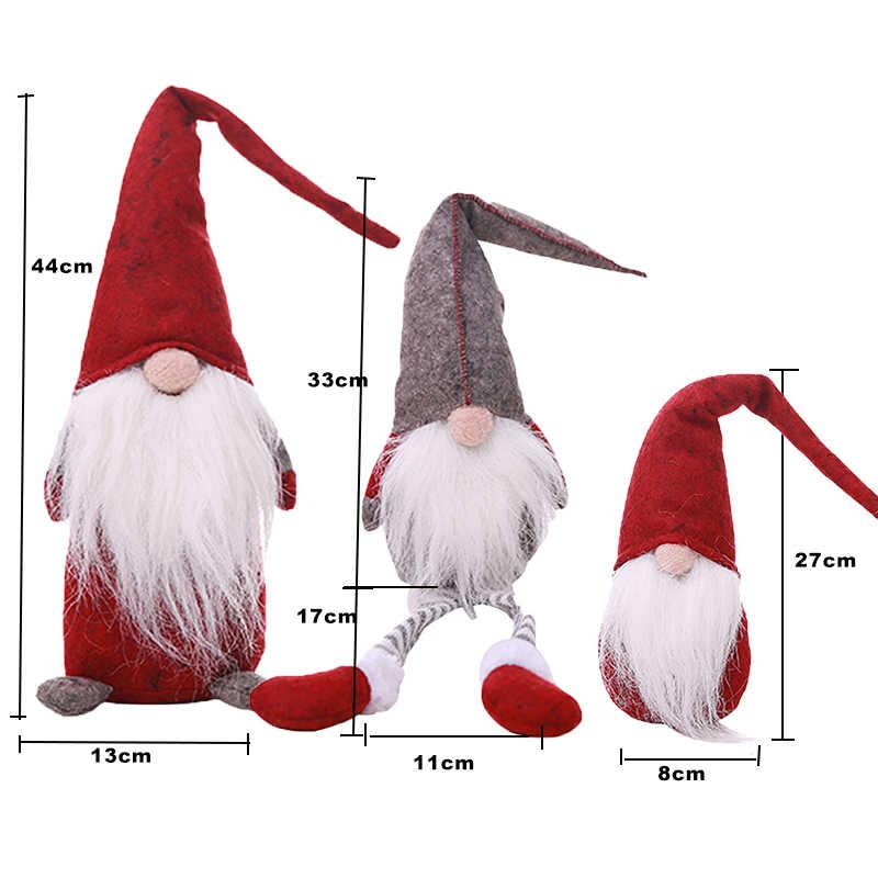 Boże narodzenie Elf Noel siedzi długonogie festiwal nowy rok kolacja Party Navidad 2018 ozdoby świąteczne dla domu