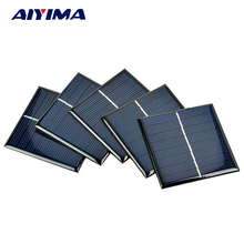 AIYIMA 5Pcs Solar Panels Polycrystalline Solar Panels 70x70MM 4V 140MA DIY Solar Battery Charger Painel Solars