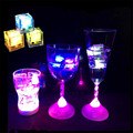 24pcs/lot Water Sensor Multi Colors Changing Led Ice Cubes Event Party LED Luminous Ices 2.8*2.6*2.6cm for wedding decoration