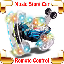 New Coming Gift RC Stunt Car Music Racing Truck Cars Remote Control Toys Dump Dance Electric Machine Speed Vehicle Off-road Car
