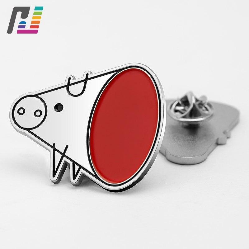 3d Cute Pig Brooch Pins Cartoon Enamel Lapel Pin Logo Metal Badges Custom Buy at Least 50PCS