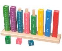 Neue Holz Baby Spielzeug Montessori Holz Bruch Rahmen Lernen Bildungsvorschul Ausbildung Baby Geschenke-in Mathe-Spielzeug aus Spielzeug und Hobbys bei