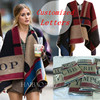 2014 Brand Prorsum Cashmere And Wool Scarf Monogramed Poncho Prorsum Cape Colour Block Check Blanket Poncho