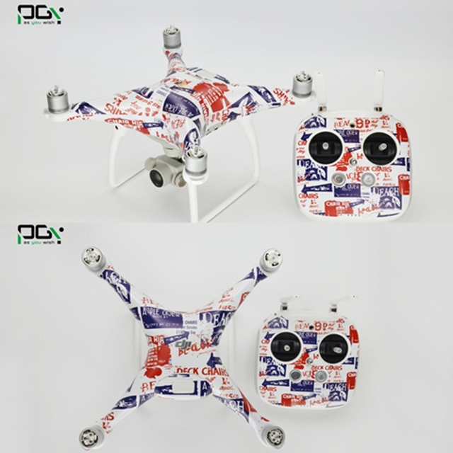 Hot Sell PGY DJI Parts Skin Stickers Decals 3M PVC for FPV Drone Rc DJI Phantom 4 Body Set Transmitter Fast Shipping