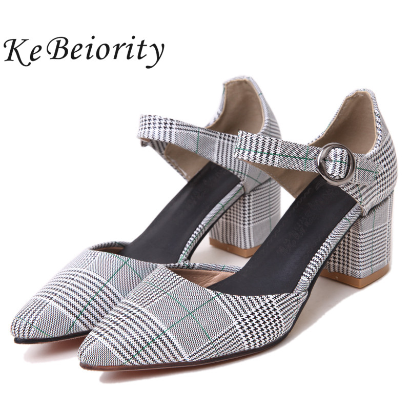 KEBEIORITY 2018 Fashion High Heels Women Pumps Summer