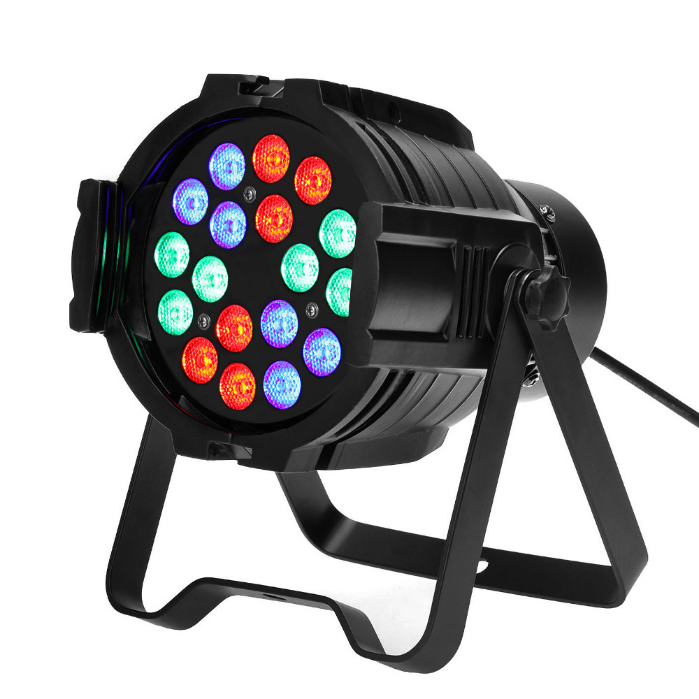 TSSS 54W DMX RGB Par Light Color Mixing Sound Activated Up Lighting for Party Wedding KTV Bar Pub Projector - Aluminum 54 3w full color stage par light bar light stain light wedding performance lighting