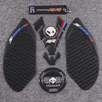 3D Motorcycle Carbon Fiber Fuel Tank Cap Sticker Decal & Tank Pad & Anti Slip Traction 3M Pad For BMW S1000RR S1000 RR HP4
