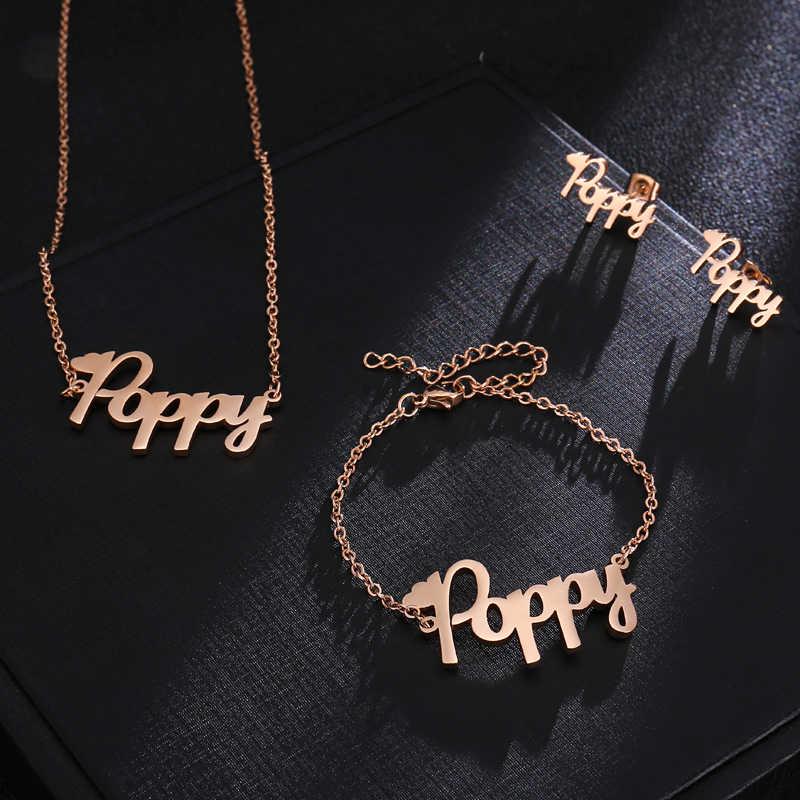 e677ea7a8febd Custom Earring Customize Name Earrings For Women Initial Letter Name  Cursive Nameplate Stud Earring Personalized Jewelry