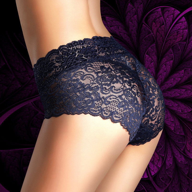 Luckymily Women Sexy Lace High Waist   Panties   Seamless Underwear Breathable   Panties   Women's Underwear Openwork Lace Briefs Tanga