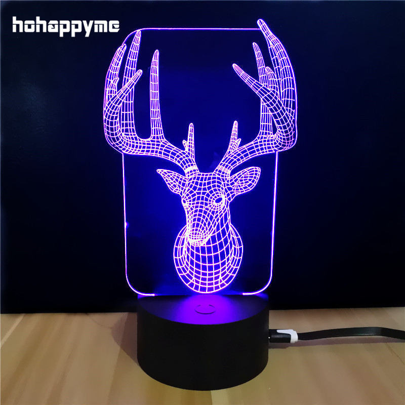 US $12 67 25% OFF|Sika Deer LED Light Sign Funny Acrylic LED Sign Home  Decor Gift Bar Desktop Decoration Panels Plate Plaques-in Plaques & Signs  from