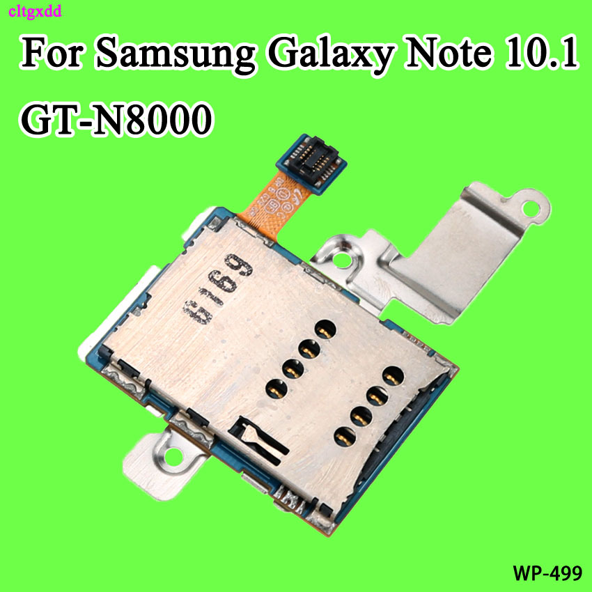 Cltgxdd SIM Card Reader Holder Tray Slot Connector Flex Cable For Samsung Galaxy Note 10.1 N8000 GT-N8000