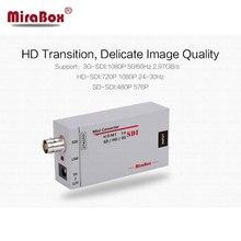 Mirabox No Latency HDMI to SDI Converter Adapter SD-SDI/HD-SDI/3G-HDI Adapter Support 1080P for Camera Home Theater