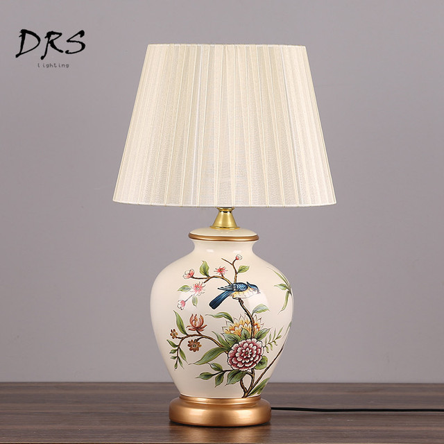 New Chinese Ceramic Table Lamps Bedroom Bed Desk Lamps Living Room ...