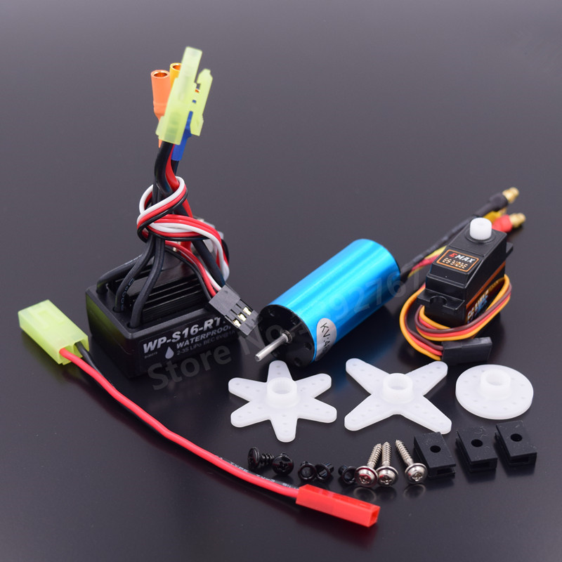 Brushless Modification Kit 2040 Brushless Motor 4800KV& 25A ESC Waterpro & 17G Servo For RC Car WLtoys 1/18 Scale A959 A969 A979
