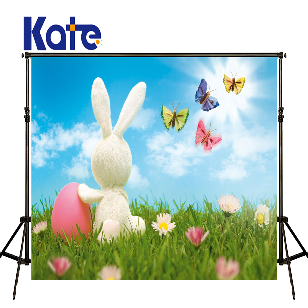 150x220CM Kate Easter Rubbit Backgrounds Spring Backdrops Photography Butterfly Children Photography Studio Props Kid Photo Prop spring background photography for kids photos green screen photography backdrops children photo props custom made backgrounds