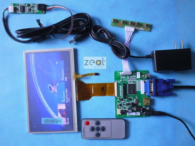 2PCS 7 INCH TFT LCD TOUCH SCREEN HDMI VGA 2AV A D Driver Board 800480 Resolution CAR PC Display Raspberry Pi 7inch Lcd Kit