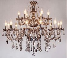 Smoke grey chandelier light crystal luxury living room bedroom dining room upscale crystal chandelier crystal lighting