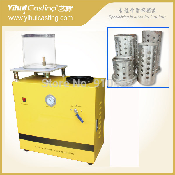 4L Mini casting machine,220V, Single Phase 50hz Vacuum + Sunck-type Casting with flask for sell