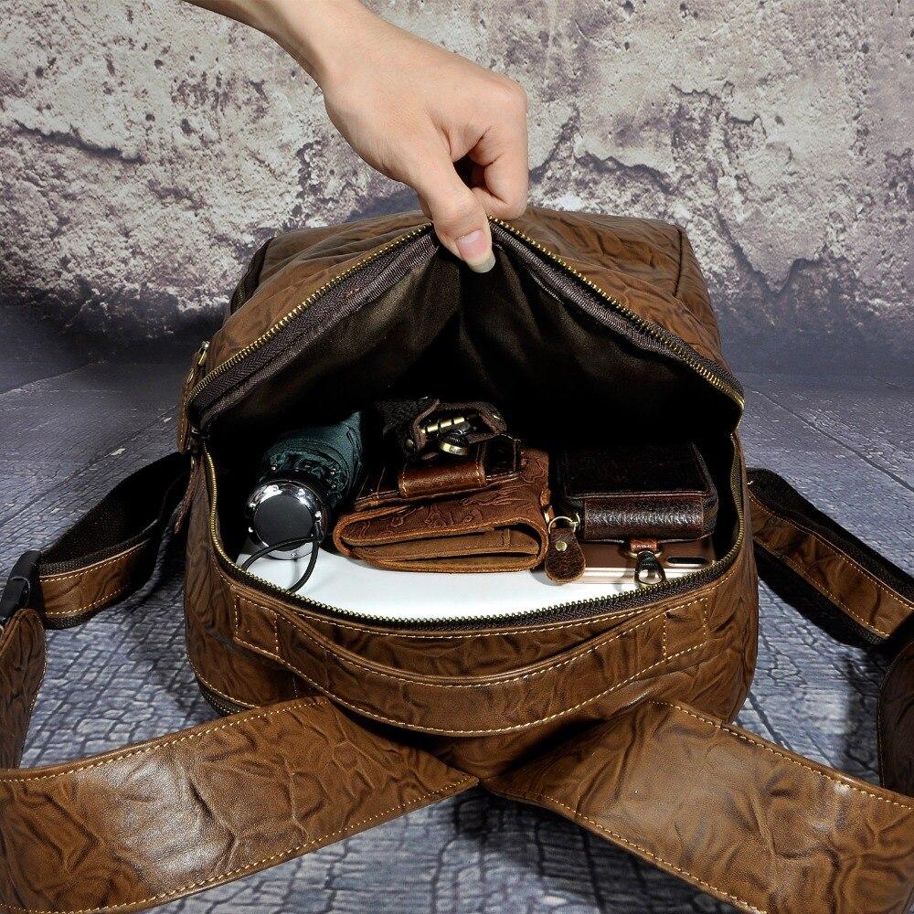 Große Leder College Kapazität Design Rucksack University 621b Buch Tasche Brown Echt Für Daypack Männlichen dark Brown Reise Mode Männer Schule Casual wXwq4zC