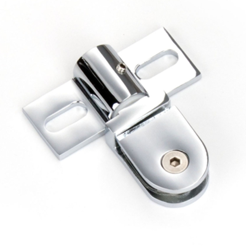 Shower Room Door Accessories Glass Door Clip 304 Stainless Steel Up And Down Shaft  Support for 6-12 mm Glass Aircraft Clamp