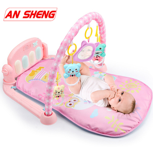 Image 1 - Estera de Juego 3 en 1 para bebé, juguetes de gimnasio para bebé, sonajeros de iluminación suave, juguetes musicales para bebé, juguetes educativos, Piano, gimnasio, regalos para bebé