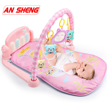 NEW 3 in 1 Baby Play Mat Baby Gym Toys Soft Lighting Rattles Musical Toys For Babies Educational Toys Play Piano Gym Baby Gifts