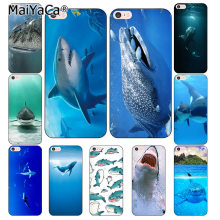 MaiYaCa oceano Tubarões Baleia peixe Coque Shell Caso de Telefone para o iPhone Da Apple 8 7 6 6S Plus X 5 XS XR 5S XSMAX(China)