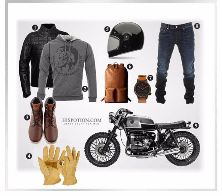 Motocicleta dos homens À Prova de Vento
