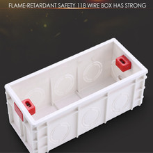 High quality universal 118 type Flame retardant PVC Wire Junction Boxes electronic box enclosure box free shipping 1 piece free shipping blue color wire drawing surface anodizing high quality aluminum junction housing case for electronics