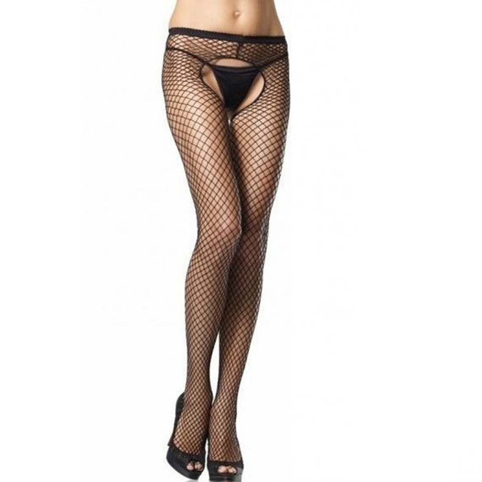 Sexy fishnet tights women elastic pantyhose hollwo out for Fish net tights