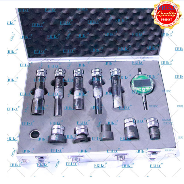 ERIKC Black Color Injector Gaskets Shims Lift Measure Instrument E1024007 CR Injector Nozzle Washer Space Testing Tools Sets