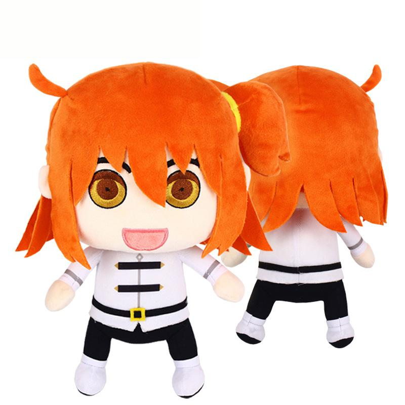 1pcs 28cm Fate Grand Order Gudako Anime Plush doll Toys Soft Stuffed Pillow Fashion Cosplay Dolls For Kids Children Girls Gifts anime fate grand order ibaraki doji kimono uniform cosplay costume halloween clothes full set for women free shipping