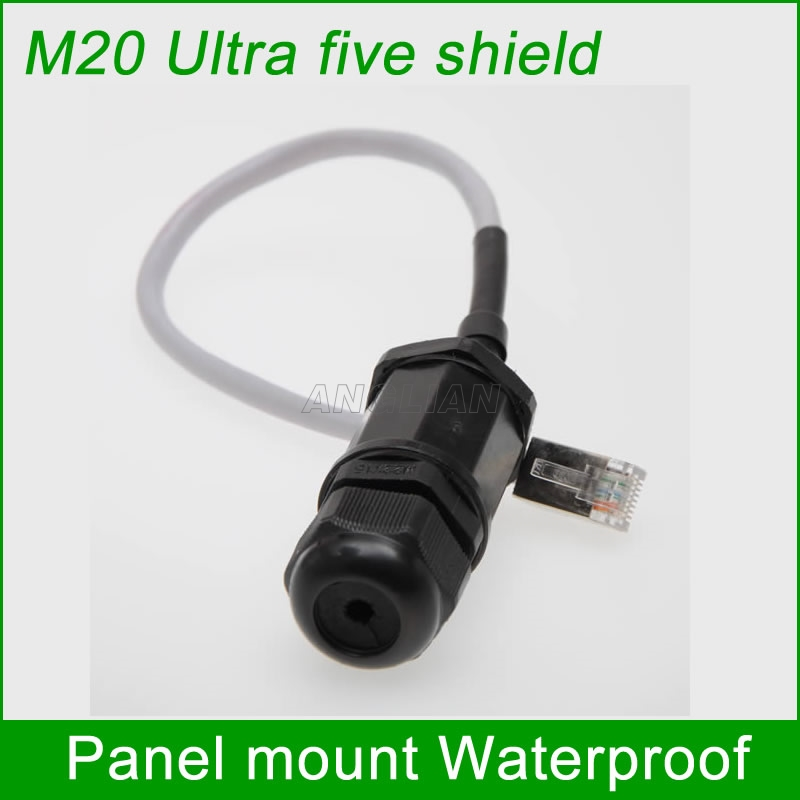 M20 Ultra five class shielding connector RJ45 gigabit plug Ethernet LAN Waterproof Connector Telecom quickly assembly