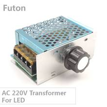 4000W AC 220V to 10V Variable Dimmer With Rotary Knob Controller Transformer For LED Light And Motor