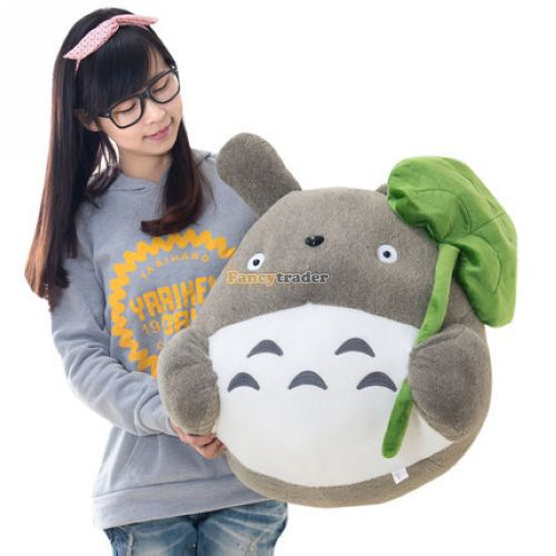 Lovely Large 70cm Plush Totoro Huge Anime Doll 1pc Stuffed My Neightor Totoro Gift with Lotus Leaf for Kids Birthday lovely my neighbor totoro animal shapes doll tonari no totoro cute lotus leaf totoro toy children s day special gift gh245