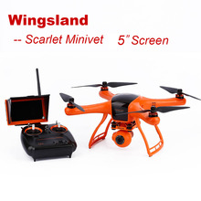 5″ FPV  Screen Wingsland Scarlet Minivet with HD Camera RC Helicopter